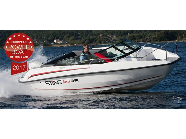 Sting 610 BR Evinrude 150 E-TEC G2 -18 Exclusive paketet!